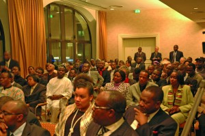 President Obasanjo in a Town Hall Meeting in Germany