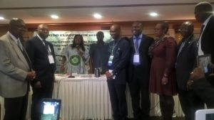 From left to right: Dr. Camillus Konkwo – Social Welfare & Event Officer, NIDO Europe Central Executive Council 2016/18 ; Sir Chibuzo Ubochi –Legal Adviser,NIDO Europe Central Executive Council 2016/18; Hon. Barrister Rita Orji, Chairperson, House of Representatives Committee on Diaspora Affairs; His Excellency, CDA, Mr. Ogah Usman Ari , the Nigerian Ambassador to Greece; Hon. Kenneth Gbandi –Chairman, NIDO Europe Central Executive Council 2016/18; Engr. Cornelius Obot–Vice Chairman, NIDO Europe Central Executive Council 2016/18; Morgan Clement –IT Officer, NIDO Europe Central Executive Council 2016/18; Engr. Abiodun Ogunsakin –General Secretary, NIDO Europe Central Executive Council 2016/18; Engr. Adeyemi Ademuyiwa –Financial Officer, NIDO Europe Central Executive Council 2016/18