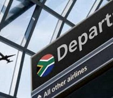 South African Airport Departure