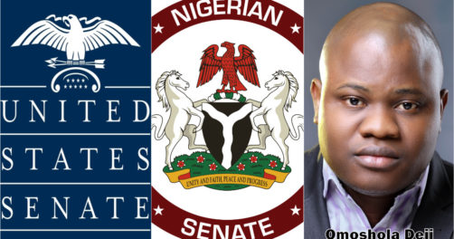 US Senate Eagle and Nigerian coat of arms